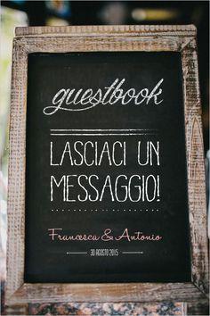 Stampa effetto lavagna per guestbook di GoodLifeEventi su Etsy