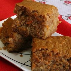 This carrot applesauce cake recipe is moist and delicious and keeps well for about a week.