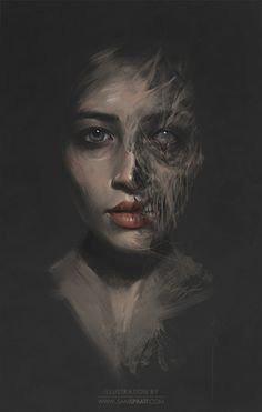Beauty/Decay Study - by Sam Spratt This was a test I did with the female portrait contest winner to mentally differentiate opposite states of beauty/decay and ultimately assist to strike a balance. High Fantasy, Fantasy Art, Decay Art, Growth And Decay, Poses References, Norse Mythology, Norse Goddess, Goddess Of The Underworld, Arte Horror