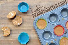 peanut butter cups {coconut oil, smooth peanut butter, vanilla, cocoa powder, stevia}