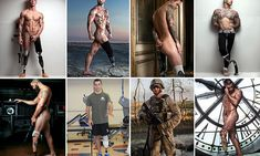 Photographer captures amputee war veterans posing naked and proudly revealing their injuries in powerful picture series.