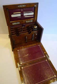 Small Antique English Stationery Cabinet - Writing Box - 1904 from puckerings on Ruby Lane
