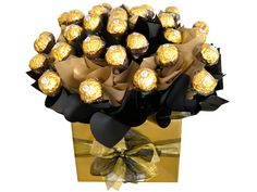 Black and Gold, Boxed Chocolate Bouquet