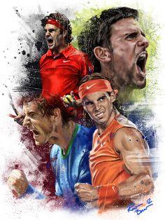 Tennis Bosses by Robert Bruno, via Behance