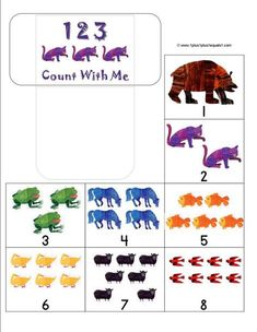 Brown Bear, Brown Bear These Brown Bear printables will give your preschooler hours of fun and exposure to early learning skills like ABCs, counting, Preschool Literacy, Preschool Books, Literacy Activities, In Kindergarten, Preschool Activities, Counting Activities, Preschool Education, Early Literacy, Early Education