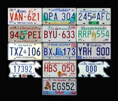 All Canadian plates!