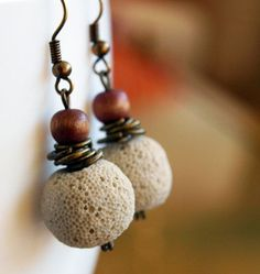 Ivory lava stone Earrings