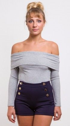 201832a-marlegrey-1 Off Shoulder Blouse, Must Haves, Shop Now, Womens Fashion, Shopping, Clothes, Tops, Outfits, Clothing