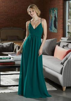 Shop Morilee's Sexy Chiffon Bridesmaid Dress with Deep V-Neckline. Sexy Chiffon Bridesmaid Dress with Deep V-Neckline. Sexy Criss Cross Straps and a Diamond Keyhole Back Complete the Look. View Chiffon Swatch Card for Color Options. Shown in Emerald. Mori Lee Bridesmaid Dresses, Beautiful Bridesmaid Dresses, Bridesmaid Dress Colors, Criss Cross, Green Wedding Dresses, Reception Dresses, Cocktail Dresses Online, Mother Of The Bride Gown, Embroidery Dress