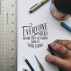 Hand lettering inspiration on a daily basis! Calligraphy and hand lettering for beginners we provide inspirational and educational content on the art of typography! Visit our website to find out more :) Calligraphy Quotes, Calligraphy Letters, Typography Letters, Graphic Design Typography, Lettering Design, Japanese Typography, Typography Quotes, Typography Poster, Modern Calligraphy