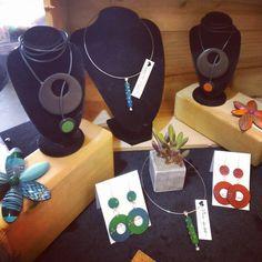 Market day #strandhillpeoplesmarket #irish #polymerclay #handcraft #handmade #forsale #designer #designermaker #fashion #jewellerydesign #jewelry #fionaherbst