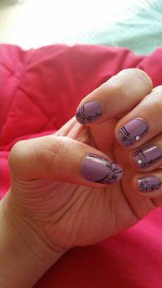 Lavender nail art