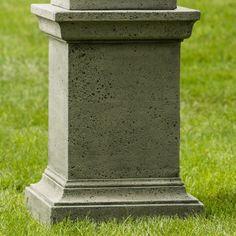 Campania International Greenwich Rustic Cast Stone Pedestal Travertine - PD-193-TR
