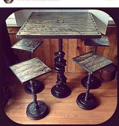 Hot rod bar table, dessus de rat rod bar, table de hot rod, bar table, barre…