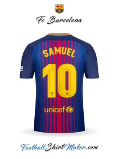 Camiseta FC Barcelona 2017 18 Samuel 10 cc3afc8628e