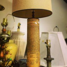 U.S. Constitution lamp