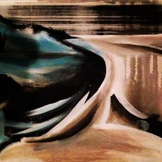 """""""Waves of Affluence"""" acrylic on canvas (9""""x12"""") from The Beginner's Mind Series, 2015 www.justgeorgia.ca Original Art For Sale, Waves, Abstract, Artwork, Summary, Work Of Art, Ocean Waves, Wave, Beach Waves"""
