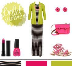 Striped Maxi + Neon...
