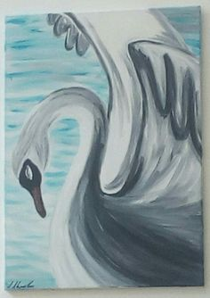 Schwan, Acrylmalerei