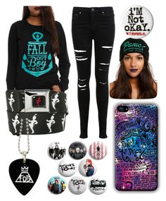 """The Emo Trinity"" by lfromdeathnote ❤ liked on Polyvore featuring Miss Selfridge"