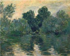 The Arm of the Seine - Claude Monet