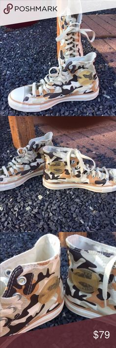 Converse Chuck Taylor RARE Desert Sneakers Women's 9.5 or Mens 7.5. Worn once. Be sure to view the other items in our closet. We offer both women's and Mens items in a variety of sizes. Bundle and save!! Thank you for viewing our item!! Converse Shoes Sneakers