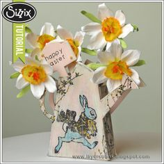 Sizzix Tutorial | Enamel Watering Can by Anna-Karin