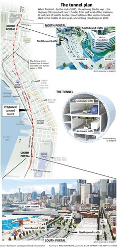 Highway 99 tunnel graphic | Seattle Times Newspaper