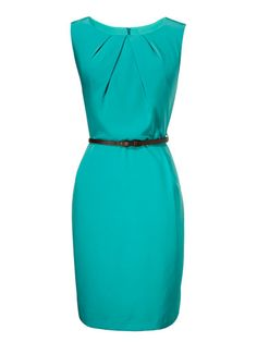 Is this dress blue or green? Who cares--it's way more fun than black. Dress, $41; lulus.com.
