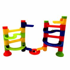 DIY Construction Marble Race Run Maze Balls Track Building Blocks Children's Educational Kid's Orbit Ball Toy  Assemblage Toys