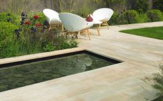 Buy Stonemarket Cordara Natural Stone Paving from Turnbull, an Indian sandstone paving with a reminiscent of wood.