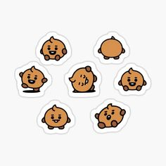High quality Babies gifts and merchandise. Inspired designs on t-shirts, posters, stickers, home decor, and more by independent artists and designers from around the world. Pop Stickers, Tumblr Stickers, Kawaii Stickers, Printable Stickers, Bts Drawings, Kawaii Drawings, Kpop Diy, Homemade Stickers, Journal Stickers