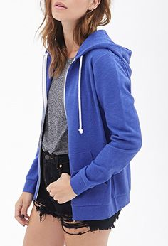 Heathered Zip Up Hoodie Condition Forever 21 Jackets & Coats Shop Forever, Forever 21, Fashion Tips, Fashion Design, Fashion Trends, Hooded Jacket, Zip Ups, Latest Trends, Hoodies
