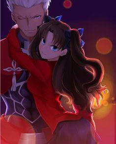 Anime Art Girl, Anime Guys, Anime Fashion, Fate Stay Night Rin, Fate Archer, Archer Emiya, Gilgamesh Fate, Tohsaka Rin, Netflix Anime