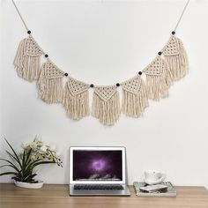 Unique tassels Wall Hanging Garland Handmade Macrame String Retro Kids Craft Handcrafted Girls Room Baby Indian Home Decor