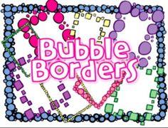 51 colorful bubble borders