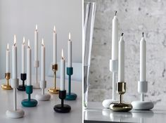 22 Modern Candle Holders for Your Home via Brit + Co.