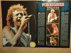 2 German clipping Foreigner Live 80`s not SHIRTLESS Boy Rock Pop Band Boys Gramm | eBay
