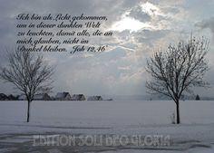 christliche Postkarte 41, Johannes, Weihnachtskarte, Schnee, Weihnachten - Bibel a la Carte - Christliche Karten