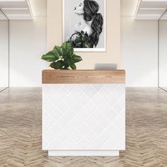 Beauty Salon Reception Desks for Sale - Comfortel Spa Reception Area, Small Reception Desk, Reception Desk Design, Reception Counter, Office Reception, Reception Furniture, Design Salon, Salon Interior Design, Spa Design