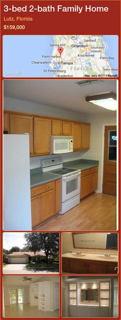 3-bed 2-bath Family Home in Lutz, Florida ►$159,000 #PropertyForSaleFlorida http://florida-magic.com/properties/44354-family-home-for-sale-in-lutz-florida-with-3-bedroom-2-bathroom