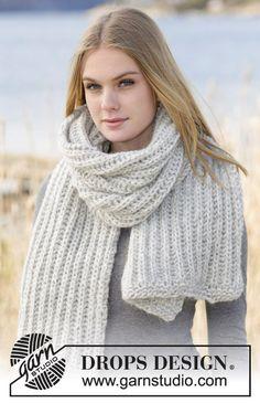 chunky scarf handknit scarf oversize scarf grey scarf by OlaKnits
