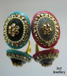 Pastel Rings!!  Price - 2800/-  Place your order by sending us an email to justjewellery08@gmail.com