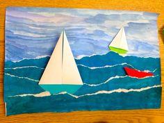 Zeilboot op woeste zee