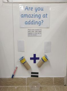 KS1 - The Addition Machine. An addition area for that small bit of small left in the corner of your room.