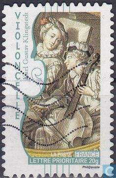 Stamp Catalogue, Double Bass, Postage Stamps, France, Country, Gallery, Stuff To Buy, Art, Music Instruments