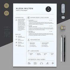 2 Pages Resume by Estartshop on @creativemarket