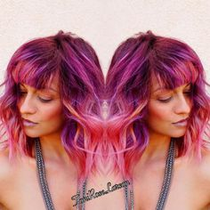 """Toni Rose Larson on Instagram: """"I Loved creating this beautiful colormelt!  Did you watch this transformation on Periscope? At Toni Rose Larson?The before pic would blow your mind! I LOVE YOU @hairbycontinuum #pravana #btcpics #modernsalon #inspirehairstyles #hairstyle #behindthechair #hairandnailfashion #hotonbeauty #whocuts #hairandmakeup #tellushowyoubio #mybigbreak #toniroselarson #colordollz #colordollzbytoni"""""""