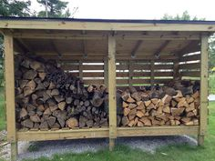 Firewood shed, wood shed