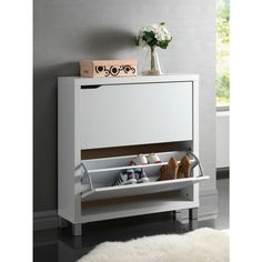 Simms Modern Shoe Cabinet White - Baxton Studio : Target Decor, Shoe Cabinet, Cabinet Doors, Shoe Storage Cabinet, Cabinet, Storage Cabinet, Home Decor, Storage, Wholesale Interiors